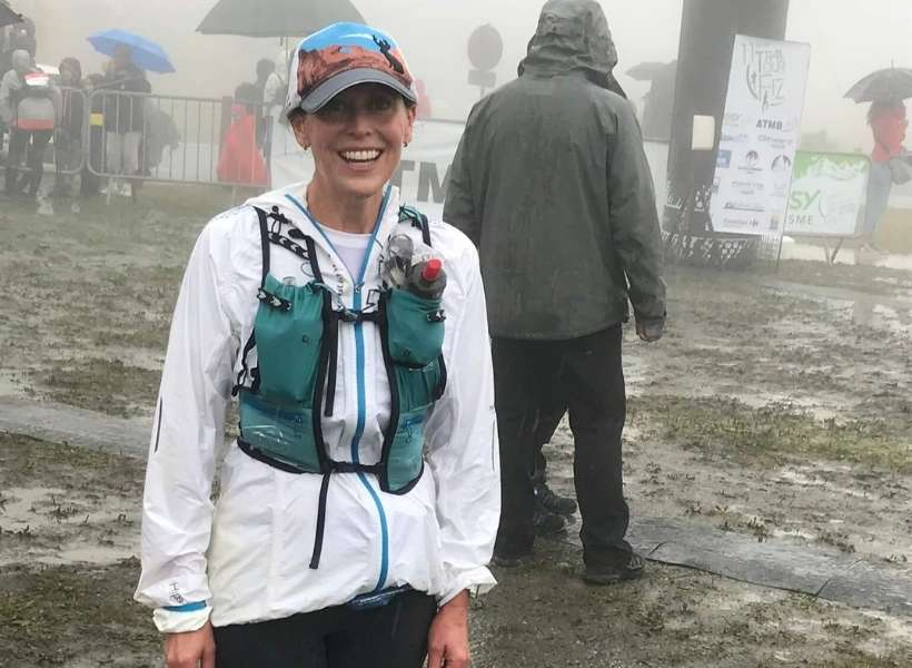 Mollie looking really wet: Running a trail race in the Alps episode