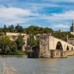 The Avignon bridge and pope's palace
