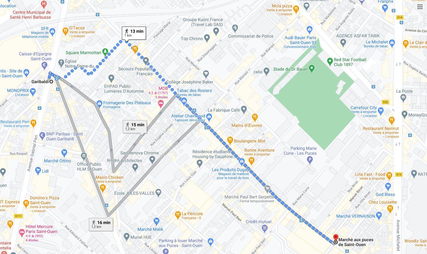 MAP: Best way to get to the Paris Saint-Ouen Flea Market