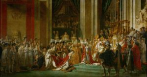 The Coronation of Napoleon painting of Jacques-Louis David