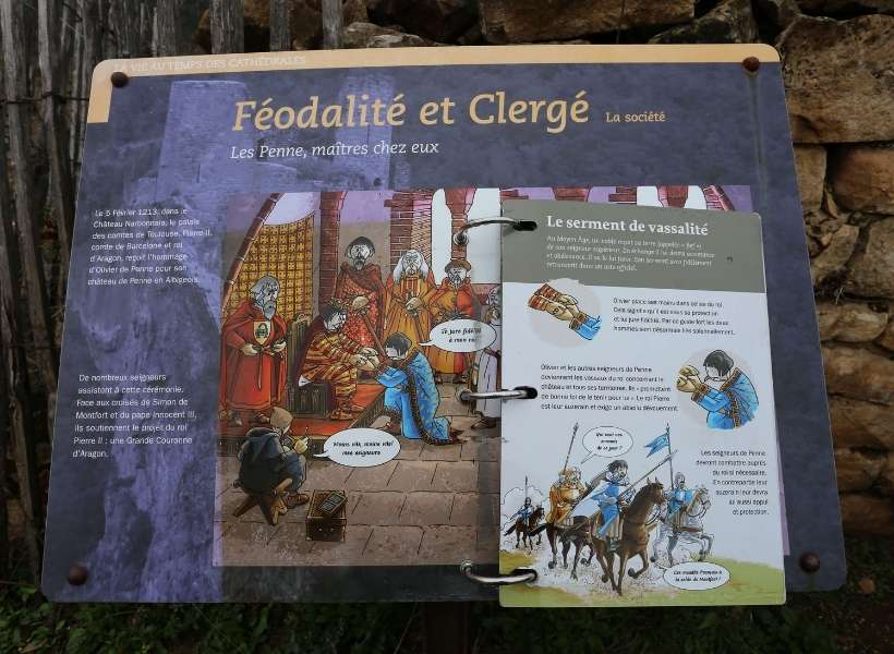 A display meant for children at the Castle of Penne