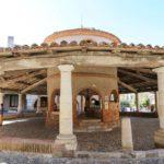 The circular covered market of Auvillar in Occitanie