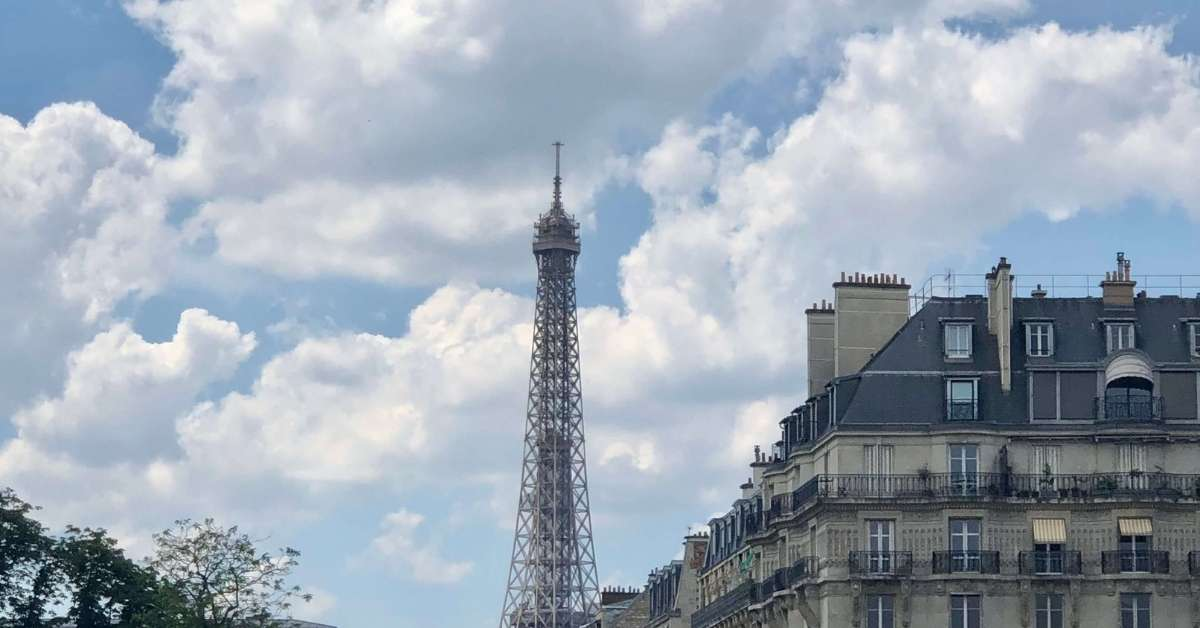 Blue sky with eiffel tower: 13 Tips for Paris Visitors with Mobility Issues episode