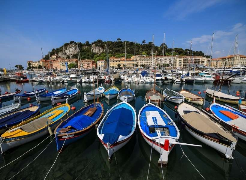 One of the ports in Nice, France