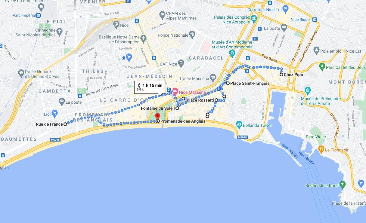 Nice Self-Guided Walking Tour
