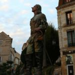The statue of Cyrano de Bergerac in Bergerac