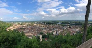 A view of Moissac from a scenic ventage point