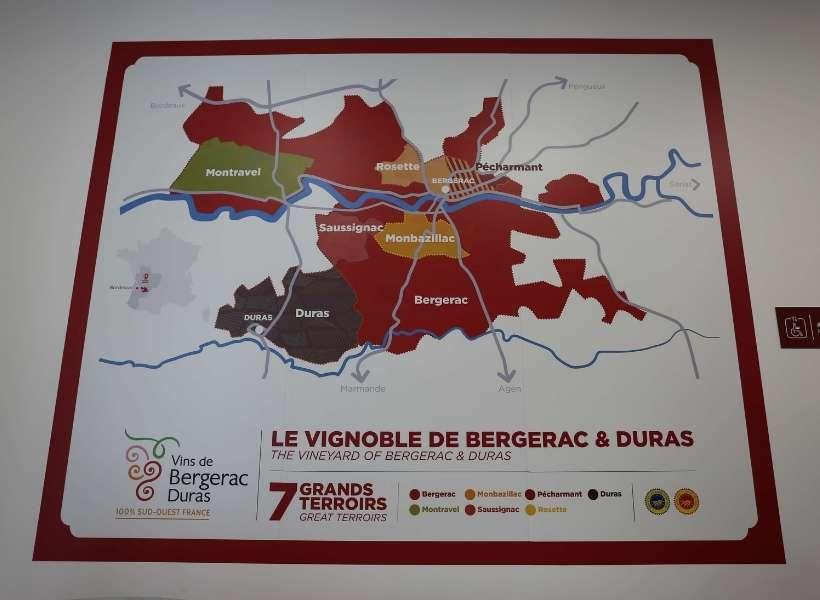 The different wine terroirs around Bergerac