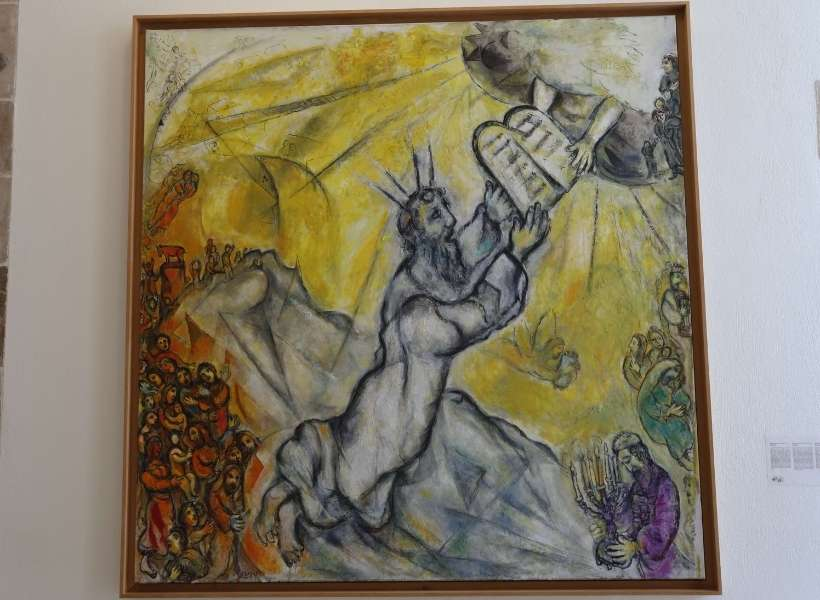 Moses receiving the Tablets of the Law by Marc Chagall: Famous Painters in Nice episode